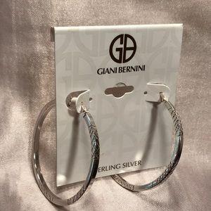 Giani Bernini SS Textured Hoop Earring